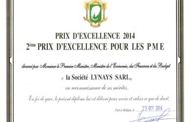 Prix d'excellence 2014